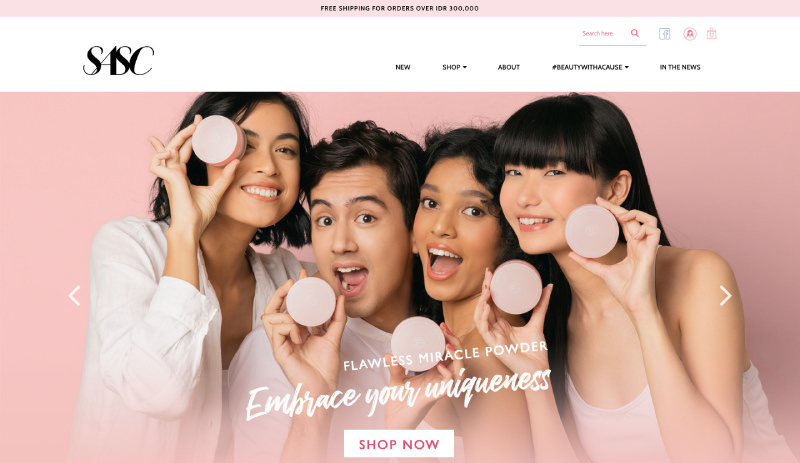82Cart E-commerce Client - SASC High Cosmetics Online Store Website