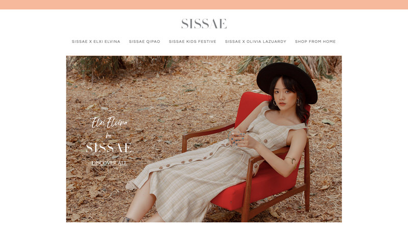 82Cart E-commerce Client - Sisae Fashion Online Store Website - based in Surabaya Indonesia