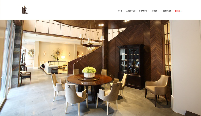82Cart E-commerce Client - Bika Living Elegant and Luxurious Indonesia Home Decor and Furniture Online Store Website - based in Kemang South Jakarta Indonesia