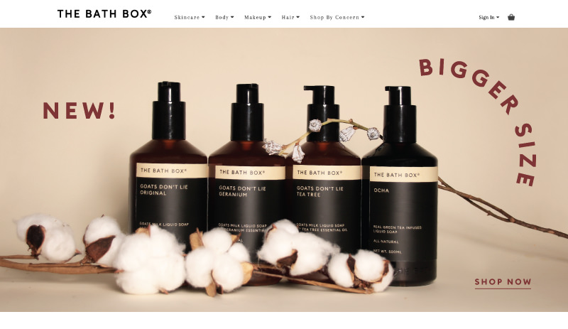 82Cart E-commerce Client - The Bath Box Handmade Soap and Healthy Lifestyle Products Online Store Website