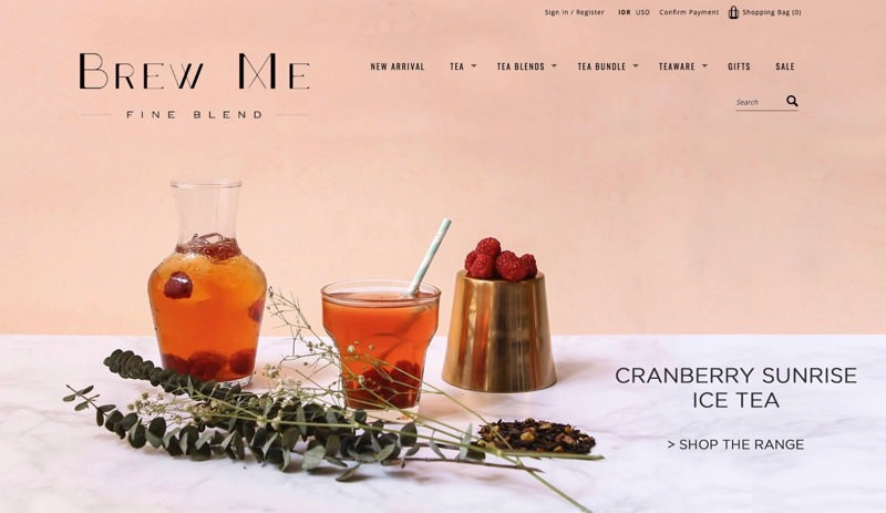 82Cart E-commerce Client - Brew Me Tea High Tea Food and Drink Online Store Website