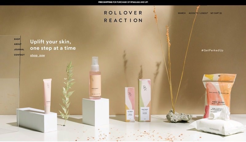 82Cart E-commerce Client - Rollover Reaction Make Up and Cosmetics Online Store Website
